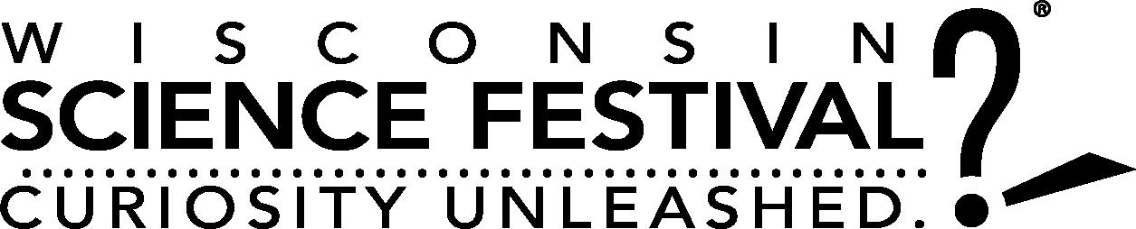 Wisconsin Science Festival black logo